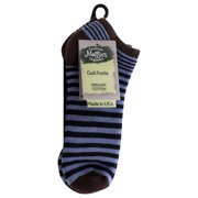 Maggie's Organics - Footie Socks, Stripe Navy/Blue 9-11