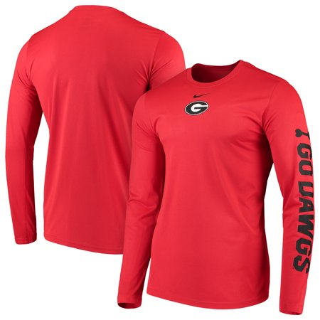 Georgia Bulldogs Nike Week Zero Trainer Hook Performance Long Sleeve T-Shirt - (Zero Fashion Brand)