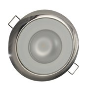 "Lumitec 113117 Mirage Spectrum RGBW LED 3.25"" Dia. 10-30V 490mA@12V Amp Flush Mount Down Light with Polished Housing"
