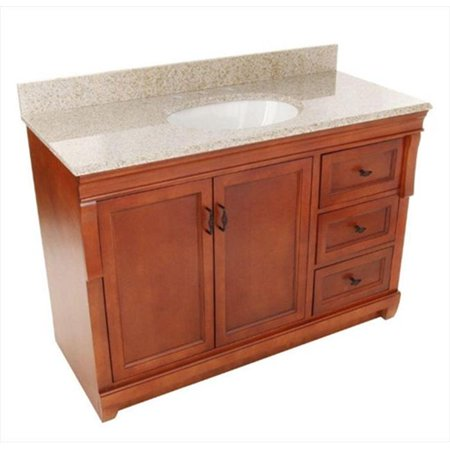 foremost group nacabgr4922 49 inch x 22 inch naples vanity with right drawers in warm cinnamon. Black Bedroom Furniture Sets. Home Design Ideas