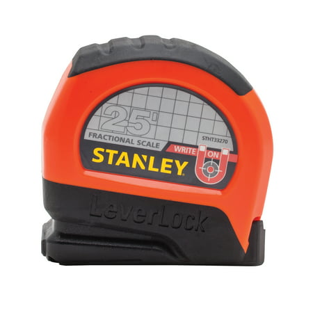 STANLEY STHT33270 25ft LeverLock Magnetic Fractional Tape (Fractional Tape Measure)