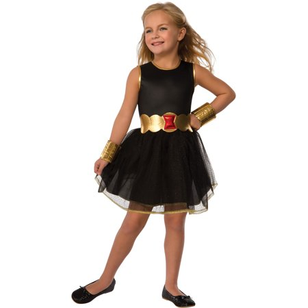 Deluxe Kids Girls Black Widow Costume Dress Toddlers 2-4](Black Widow Dress Costume)