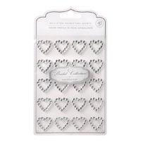 David Tutera Wedding Self Stick Rhinestone Hearts   Silver   Clear   4Mm