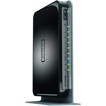netgear n750 dual band wifi router, 4-port gigabit ethernet (wndr4300) -  walmart com