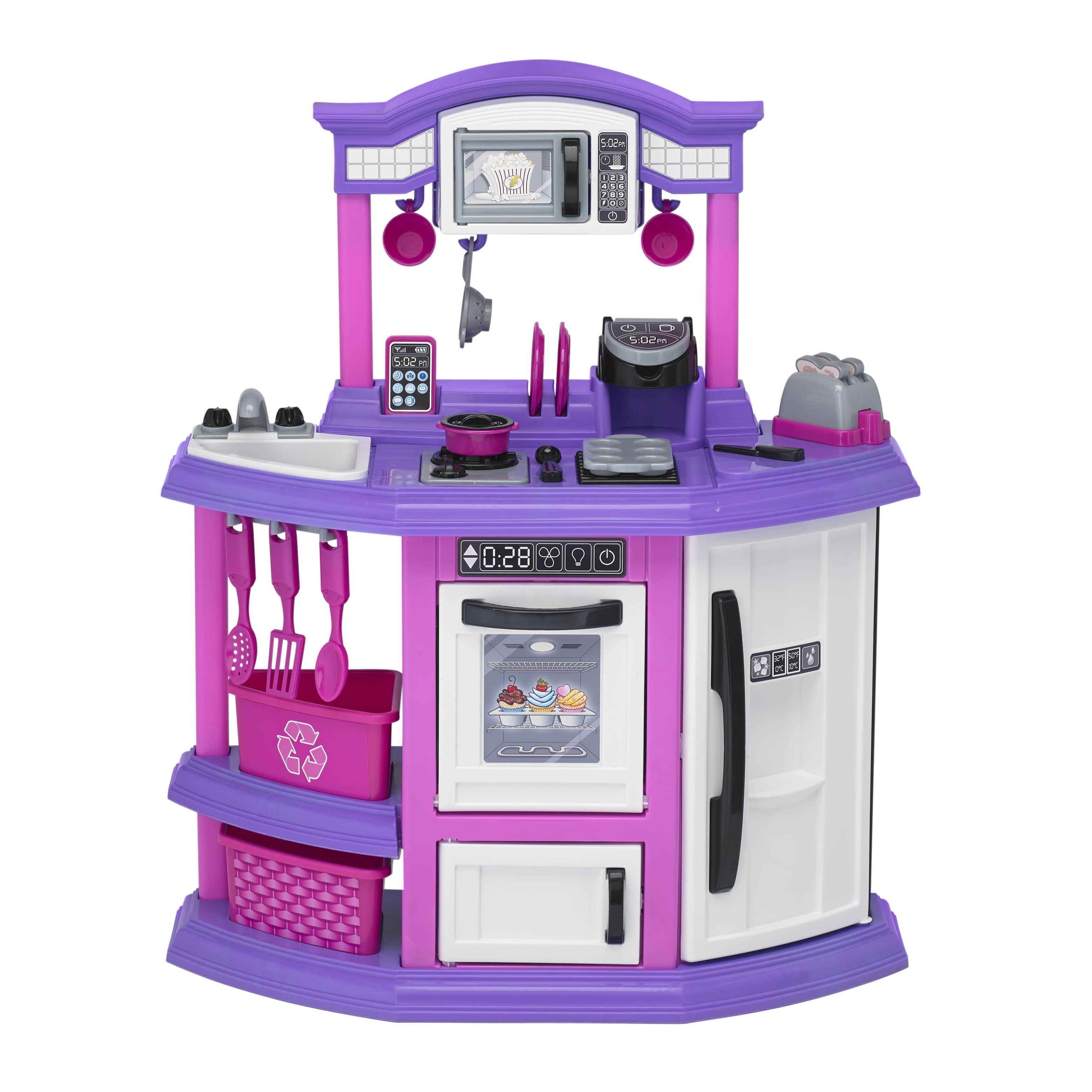 American Plastic Toys Baker S Kitchen Ft Light Up Burner With Sound