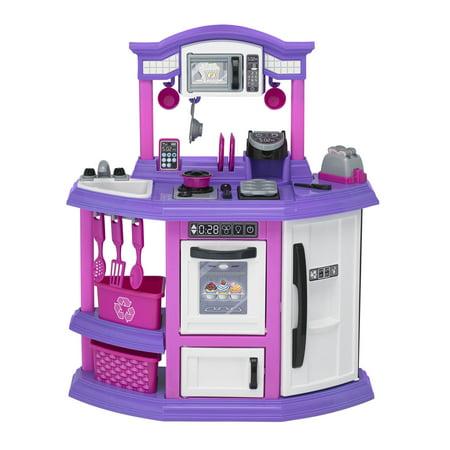 Pink Pig Kitchen (American Plastic Toys Baker's Kitchen ft. light up burner with)