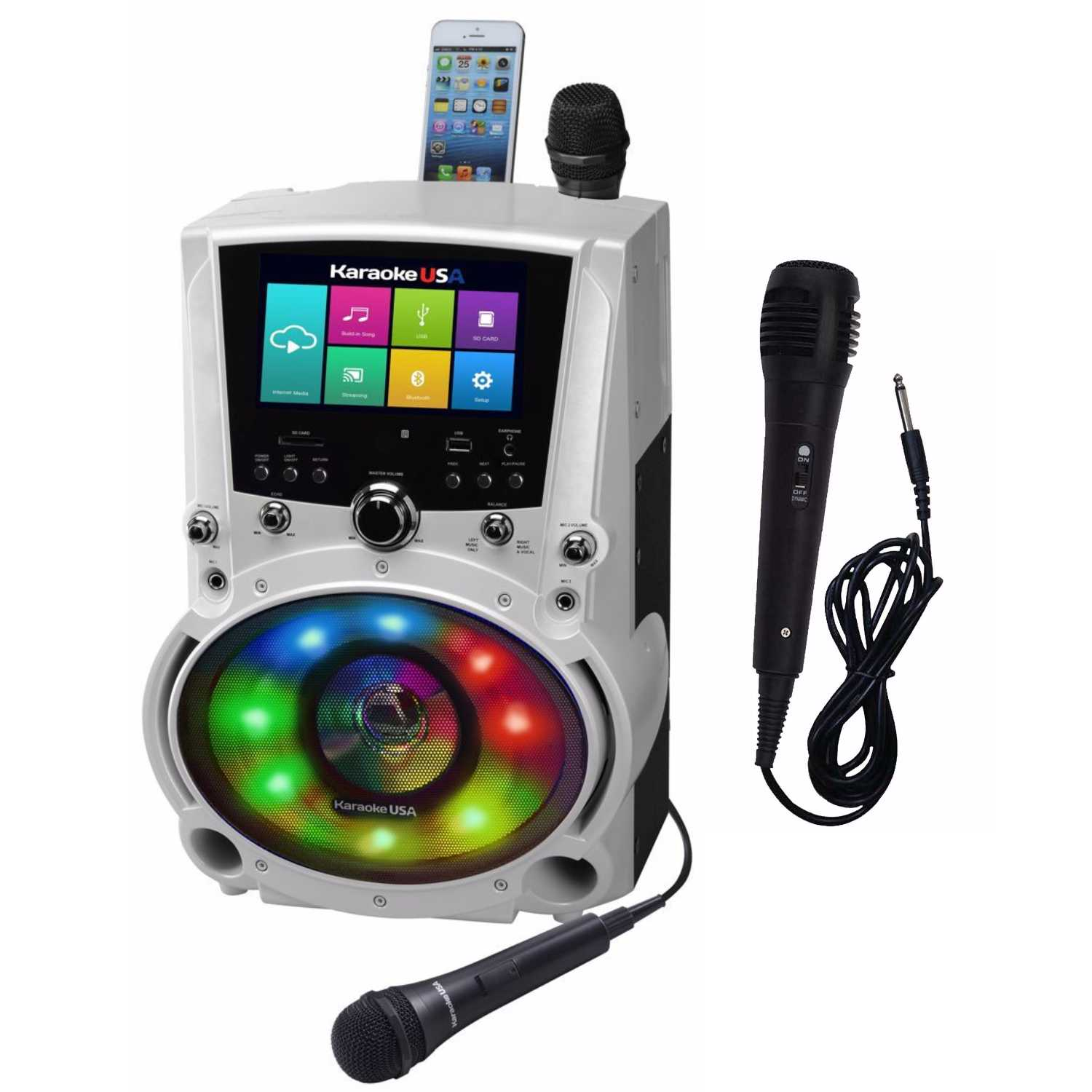 "Complete Wi-Fi Karaoke USA System with 7"" LCD Touch Screen, Recording Option and... by Dok Solutions"