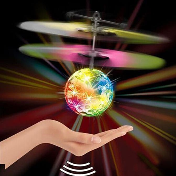 Mallroom RC Ball Infrared Induction Mini Aircraft Flashing Light Remote Toys For Kids