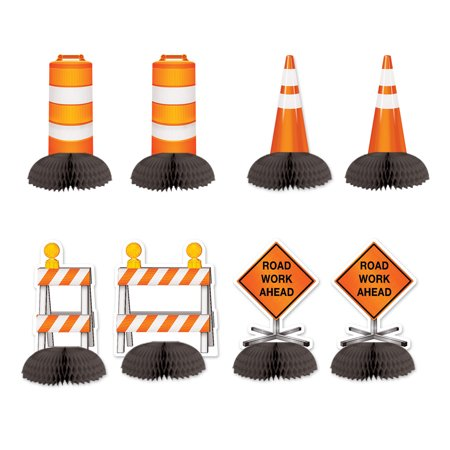 Construction Mini Centerpieces 5 1/4 inch - 5 1/2 inch - Party Decoration - 8 per pack