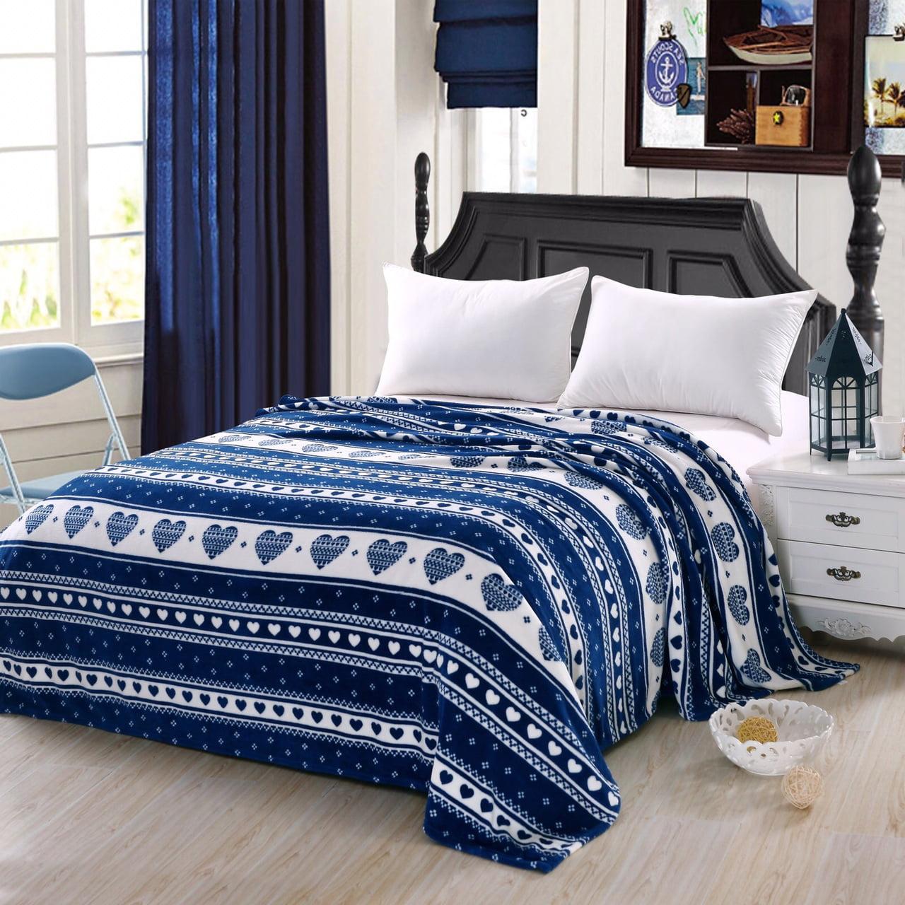 Soft Plush Heartfelt Micro Fleece Jacquard Blanket, Lovely Contemporary Pattern (Twin, Burgundy)