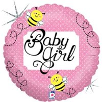 Mayflower 75402 4 in. Baby Girl Bee Holo Balloon