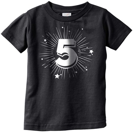 Toddler 5 Years Old Birthday Party Age Celebration T shirt for Kids](3t Age)