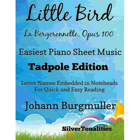Little Bird La Bergeronnette Opus 100 Easiest Piano Sheet Music - (Elle A Fui La Tourterelle Sheet Music)