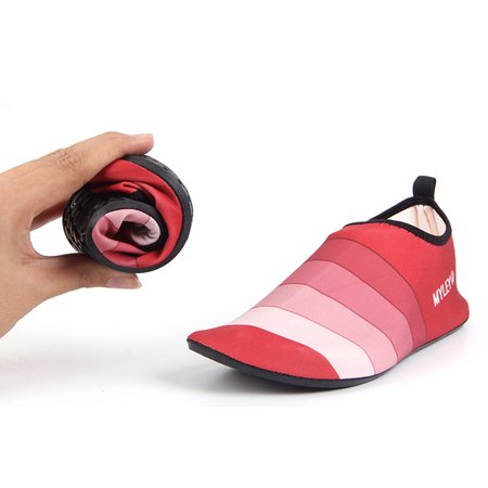 Fashion Striped Water Shoes Soft Barefoot Skin Care Shoes Color:Red Stripe Size:M(36-37) - image 3 of 4