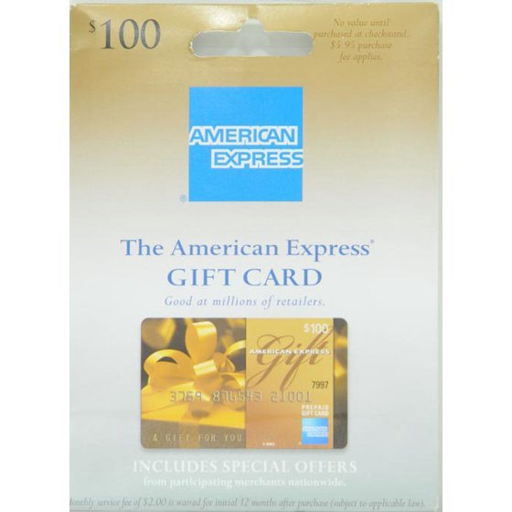 100 american express gift card purchase fee included walmart negle Gallery