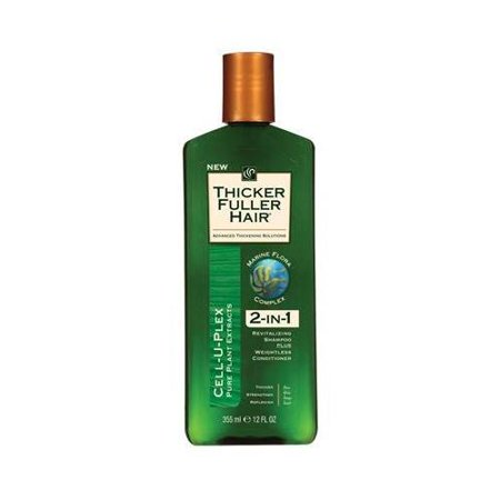 Thicker Fuller Hair 2 In 1 Shampoo Plus Conditioner 12 Ounce each