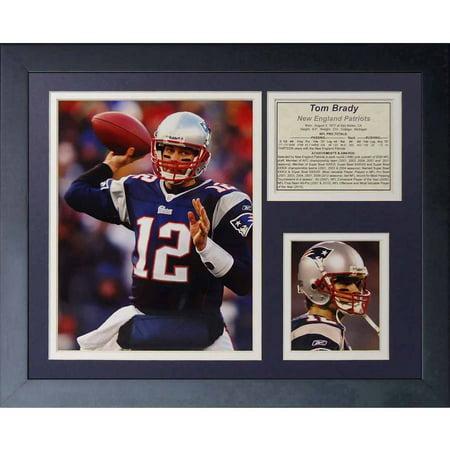 Legends Never Die  Tom Brady Home  Framed Photo Collage  11  X 14