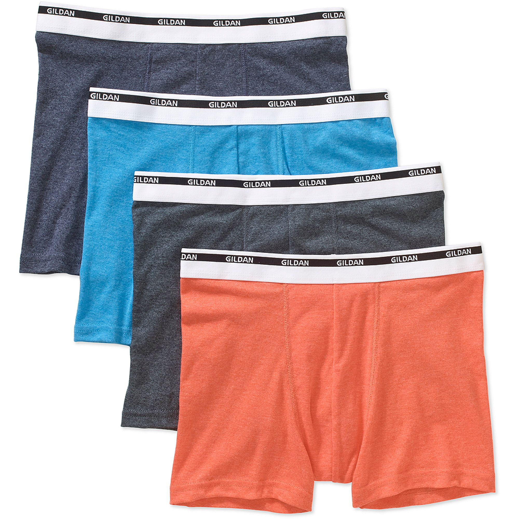 Gildan Men's Trunk Brief 4 Pack, Colors May Vary by
