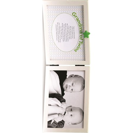 Grandma Of Twins 4x6 Double White Tabletop Frame Designer