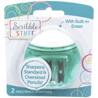 Scribble Stuff 2-Hole Pencil Sharpener with Eraser
