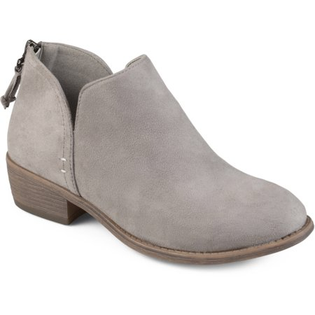 Felted Booties (Brinley Co. Women's Tassel Faux Suede Comfort Sole Bootie )