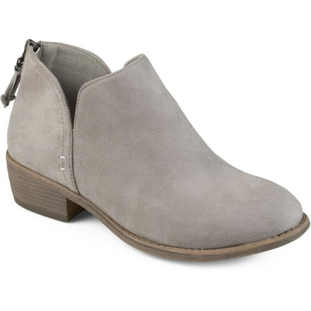Brinley Co. Women's Tassel Faux Suede Comfort Sole Bootie (Nine West Booties Suede)
