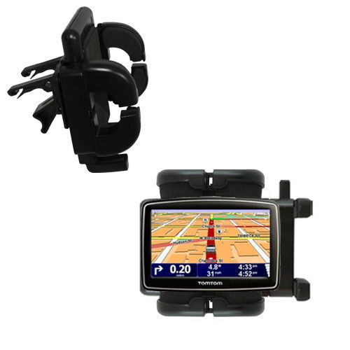 Gomadic Air Vent Clip Based Cradle Holder Car / Auto Mount suitable for the TomTom XL 335 S - Lifetime Warranty