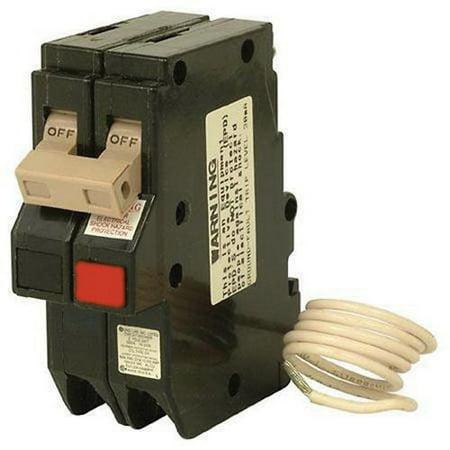 Eaton CH220GFT Plug-On Mount Type CH Ground Fault Circuit Breaker 2-Pole 20 Amp 120/240 Volt AC Ground Fault Circuit Interrupter