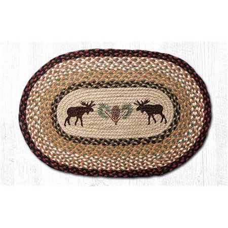 - Capitol Importing 88-35-019MP 3 x 5 ft. Jute Oval Moose & Pinecone Patch