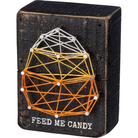 Primitive Halloween Decorations (PBK Fall Halloween Decor - Feed Me Candy Corn String)
