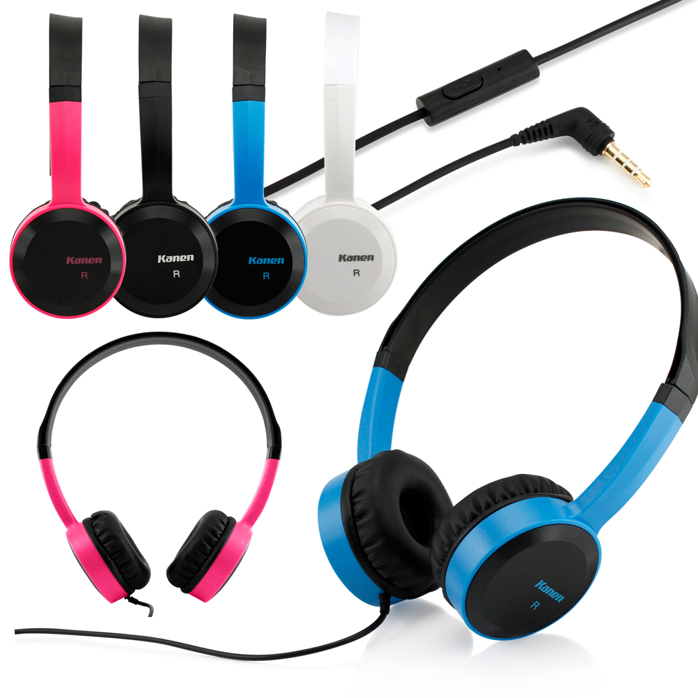 3.5mm Stereo Headphone Earphone Headset with Mic Answer Phone Function
