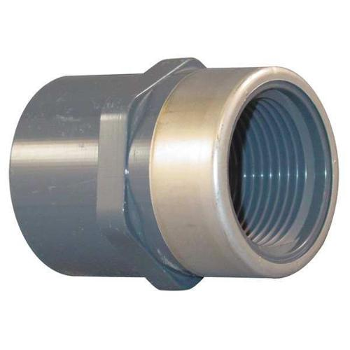 "Spears 1/4"" FNPT x Socket PVC Stainless Steel Adapter, 835-002SR"