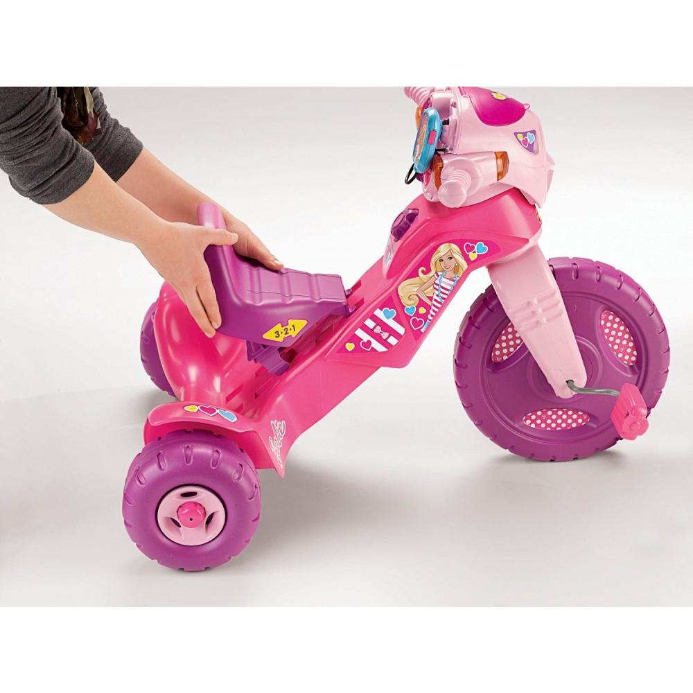 fisher price lights sounds barbie tricycle toddler ride on toy foot pedal pink ebay. Black Bedroom Furniture Sets. Home Design Ideas