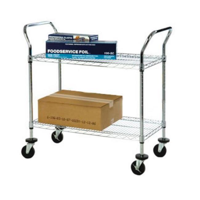 FocusFoodService FFC18362CH 18 inch W x 36 inch L x 37 inch H 2 Shelf Wire Cart