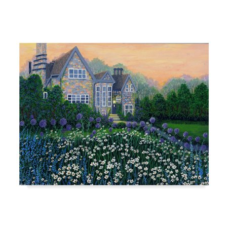Trademark Fine Art 'English Cottage Landscape' Canvas Art by Bonnie B Cook