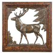 Oklahoma Casting Framed Stag Silhouette Wall Art - 14W x 14H in.