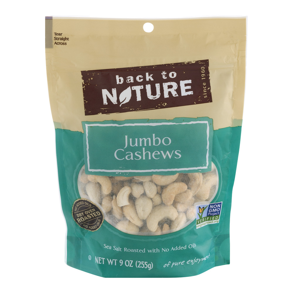 Back To Nature Jumbo Cashews, 9.0 OZ by Back To Nature Foods Company