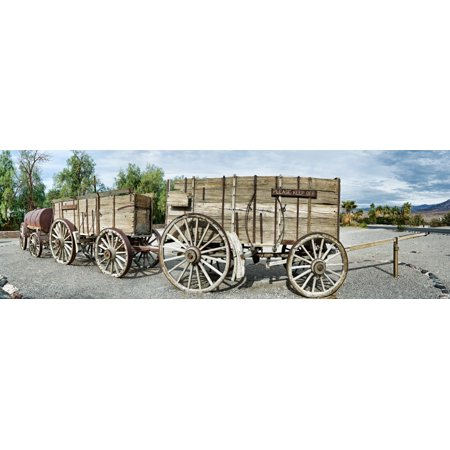 Wagons Loaded With Borax Death Valley Death Valley National Park California Usa Poster Print