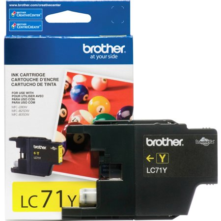 Brother LC71Y Yellow Ink Cartridge (300 Yield)
