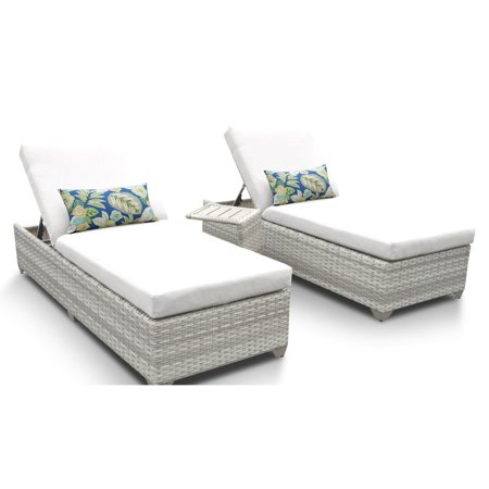 TK Classics Fairmont All-Weather Wicker Adjustable Chaise Lounge ()