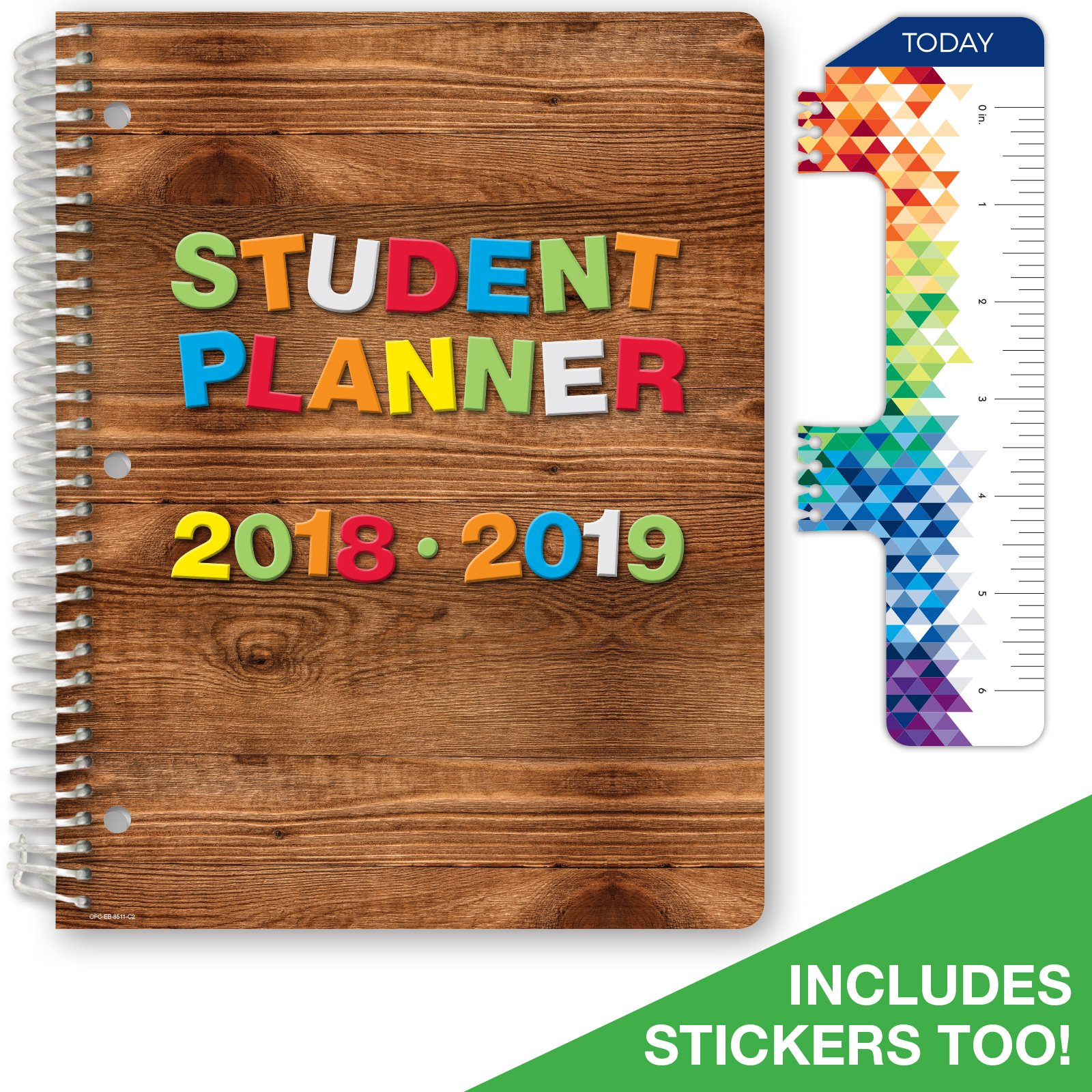 """2018-2019 Student Planner 8.5""""x11"""" Elementary School for Academic Year 2018-2019 (Block Style Agenda... by Global Datebooks"""