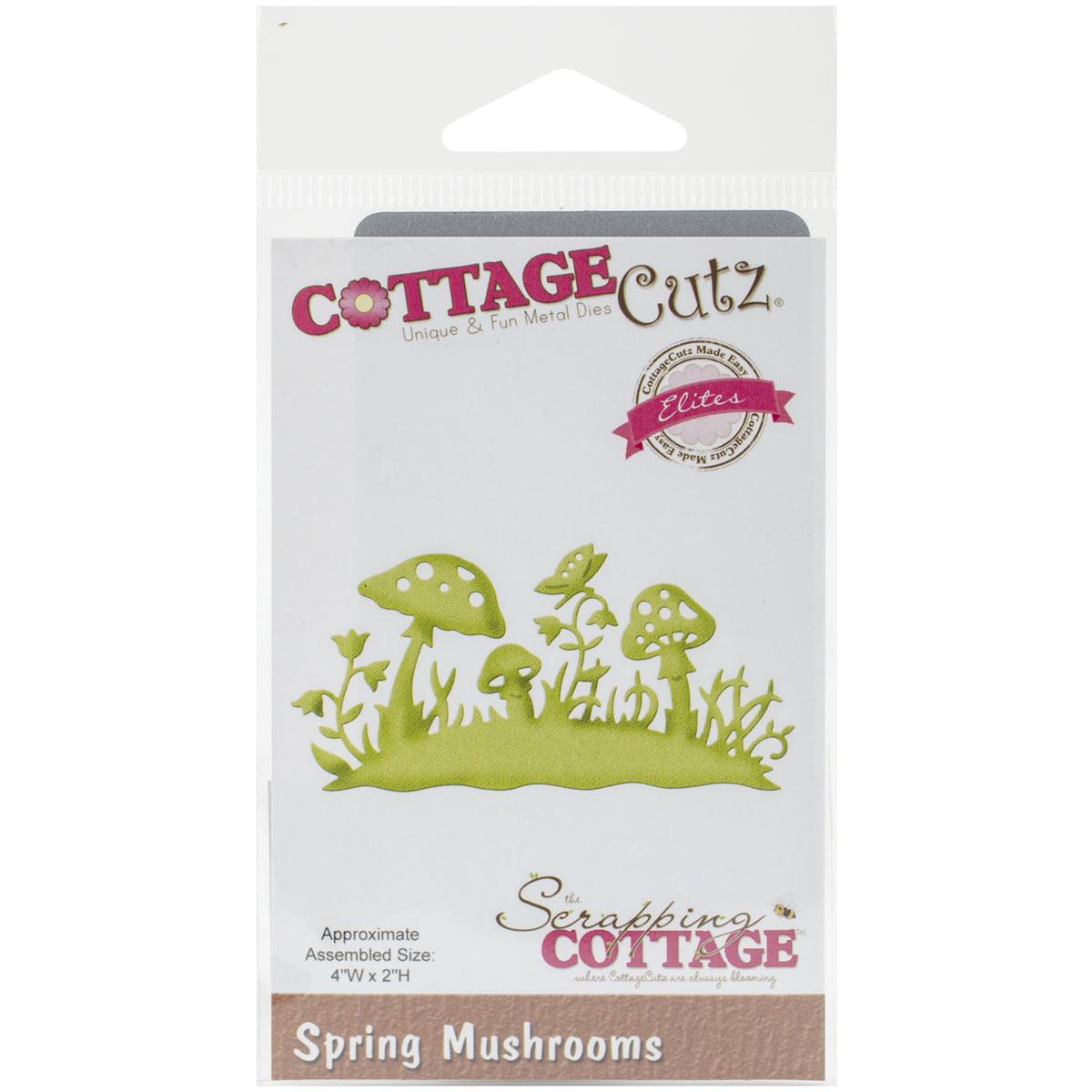"CottageCutz Elites Die, Spring Mushrooms, 4"" x 2"""