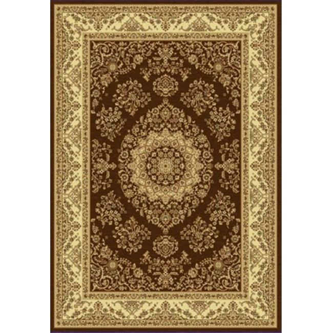 Dynamic Rugs TJ461866605 Taj 3. 11 x 5. 7 1866-605 Rug - Brown-Beige