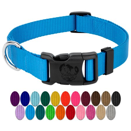 Deluxe Single Thick Nylon Collar - Country Brook Petz | Vibrant 23 Color Selection | Deluxe Nylon Dog Collar (1 Inch Wide)