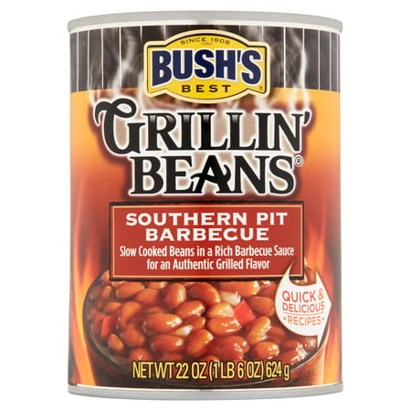 (6 Pack) Bush's Best Grillin' Beans Southern Pit Barbecue, 22