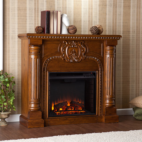 Serrah Electric Fireplace, Salem Antique Oak
