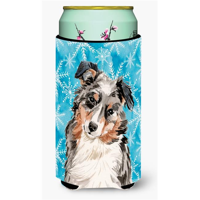 Carolines Treasures BB9432TBC Australian Shepherd Winter Tall Boys Beverage Insulator Hugger - image 1 of 1