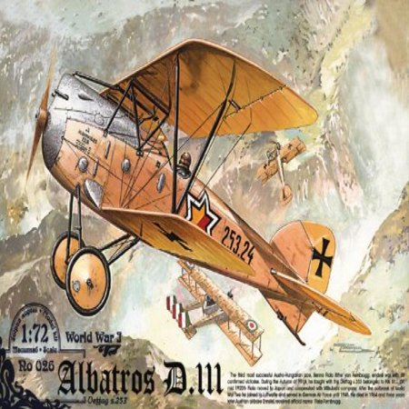 Roden Albatross D.III Austro-Hungarian Fighter Airplane Model Kit