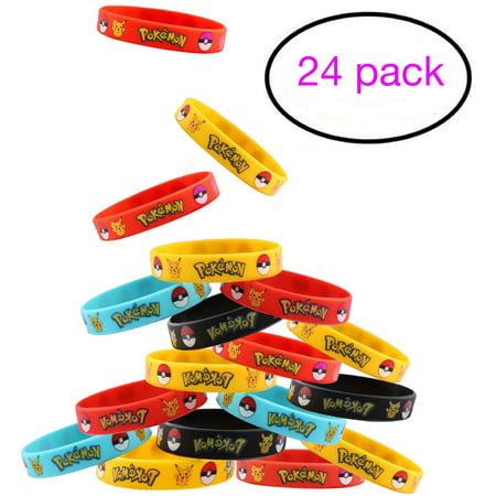 24 Count Pokemon Rubber Bracelet Wristband