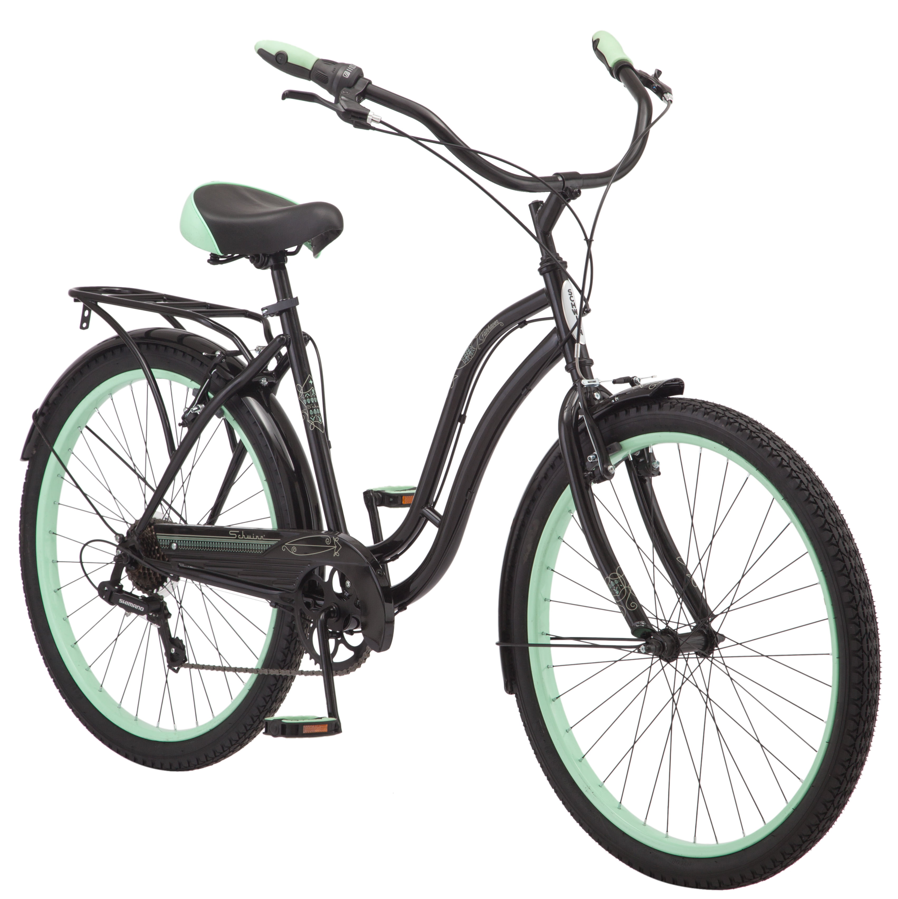 "Click here to buy 26"" Schwinn Fairhaven Women's Cruiser Bike, Black by Pacific Cycle."